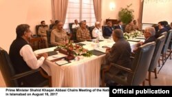 Prime Minister Shahid Khaqan Abbasi Chairs Meeting of the National Security Committee in Islamabad on August 16, 2017