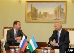 Islom Karimov va Dmitriy Medvedev, 13-iyun 2011