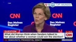 Manchetes Mundo 15 Janeiro 2020: Warren sustenta que mulher pode bater Trump