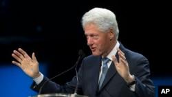 카트리나 10주년 기념 행사에서 연설하는 빌 클린턴 전 미국 대통령