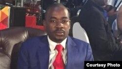 UMnu. Nelson Chamisa, umkhokheli webandla leMDC.