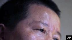 中国维权律师高智晟2010年4月7日在接受美联社采访时的照片