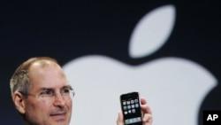 蘋果公司前行政總裁史蒂夫•喬布斯(資料照)