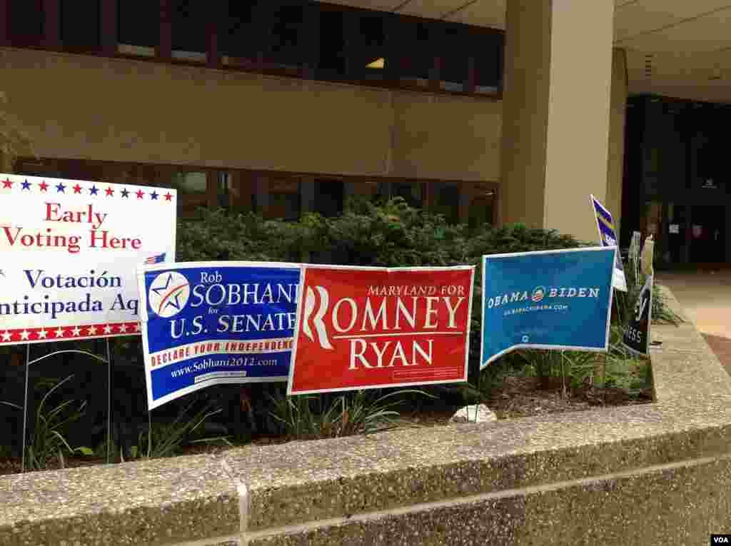 支持大選候選人的廣告牌