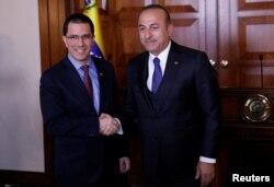 Dışişleri Bakanı Mevlüt Çavuşoğlu, hafta başında Ankara'da Venezuela Dışişleri Bakanı Jorge Arreaza'yı ağırlamıştı.
