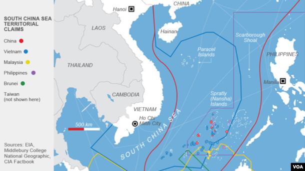 Klaim-klaim wilayah Laut China Selatan.