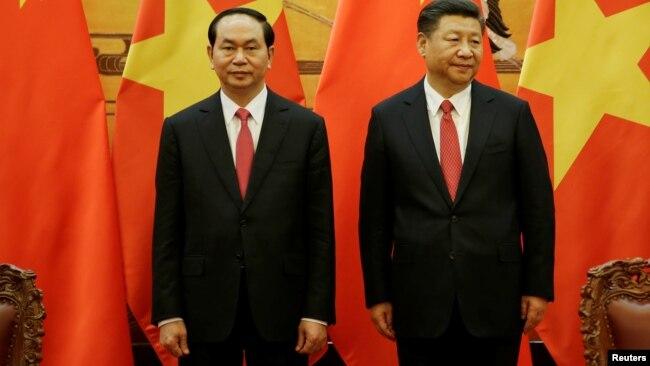 Tin lắp bệ phóng rocket của Trung Quốc được đăng tải hai ngày sau chuyến công du Trung Quốc của Chủ tịch Việt Nam Trần Đại Quang.