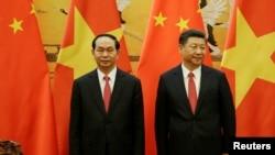 Chủ tịch Việt Nam trong chuyến thăm Trung Quốc đầu tháng này.