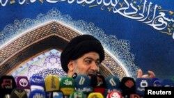 احمد صافی، نماینده آیت الله سیستانی پیامی از او در نماز جمعه کربلا پخش کرد