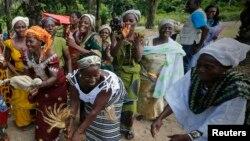Des ivoiriennes à Man, dans l'ouest de la Côte d'Ivoire, le 3 novembre 2014
