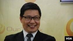 陳健民擔心李源潮向香港傳媒施壓。(美國之音 湯惠芸)