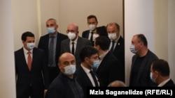 В ходе визита в Тбилиси председателя Европейского Совета Шарля Мишеля (на фото - третий слева в верхнем ряду). 20 апреля 2021