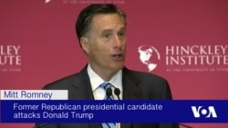 Romney Denounces Trump as 'Phony,' 'Fraud'