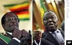Zimbabwean President Robert Mugabe and opposition leader Morgan Tsvangirai