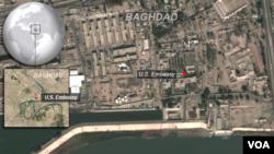 Satelitski snimak americke ambasade u Baghdadu
