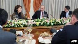 Владимир Путин на встрече с редакторами западных СМИ