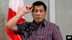 菲律宾总统杜特尔特。(2016年8月31日)
