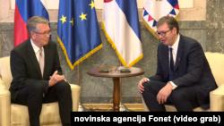 Ruski ambasador u Beogradu Aleksandar Čepurin sa predsednikom Srbije Aleksandrom Vučićem