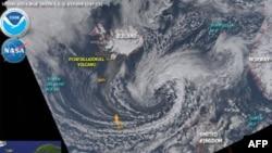 欧洲上空的火山灰云