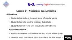 Lesson Plan - Lesson 24