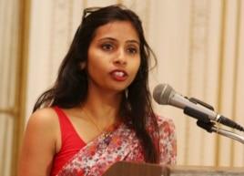 FILE - Devyani Khobragade at India's Consulate General, New York, June 19, 2013.