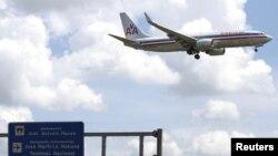 Sebuah pesawat maskapai American Airlines siap mendarat di bandara Jose Marti di Havana, Kuba (foto: dok).