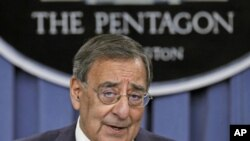 US Secretary of Defense Leon Panetta details the Defense Strategic Review at the Pentagon, in Arlington, Virginia, January 5, 2012.