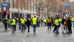 Fransa'da Sarı Yelekliler Protestolarına Devam Ediyor