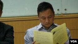 前中国学生领袖王丹(美国之音杨晨拍摄)