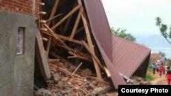 Tremblement de terre à Bukavu en RDC le 23 septembre 2016.