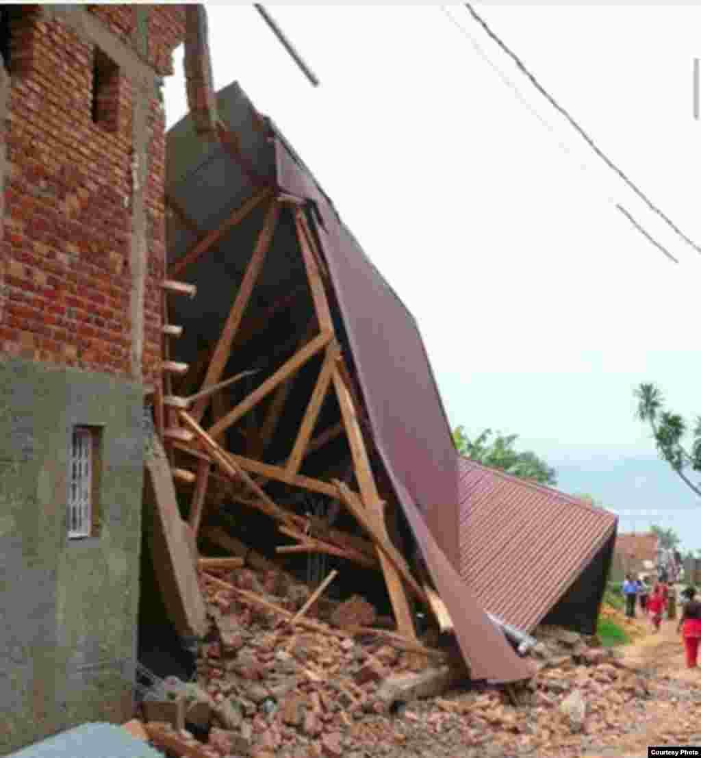 Après le tremblement de terre qui a touché Bukavu, en RDC, le 23 septembre 2016.