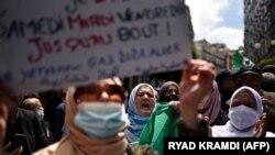 Manifestation du mouvement Hirak à Alger, le 23 avril 2021.