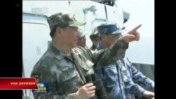 TQ loan báo tập trận bắn đạn thật ở eo biển Đài Loan