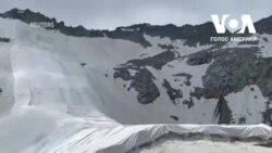Загортування льодовика у покривало - боротьба з глобальним потеплінням. Відео