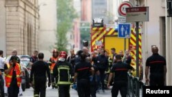 На месте взрыва в Лионе
