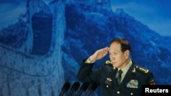 中国国防部部长魏凤和2018年10月25日出席香山论坛(路透社)