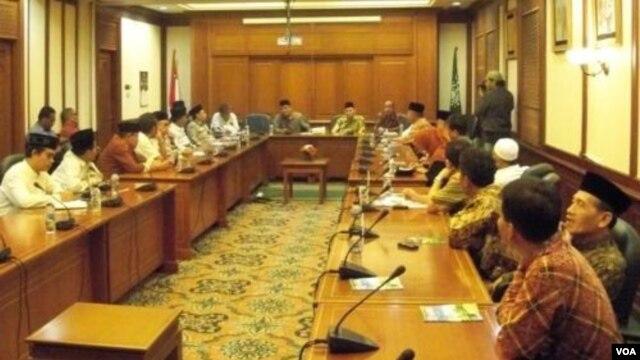 Perwakilan Ormas-Ormas Islam yang turut dalam Deklarasi Lembaga Persahabatan Ormas Islam di Jakarta (21/10).