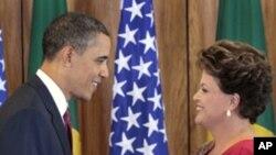 Shugaban Amurka Barack Obama ya gana da takwararsa ta kasar Brazil Dilma Rousseff, domin tattaunawa kan dangantakar tattalin arziki.