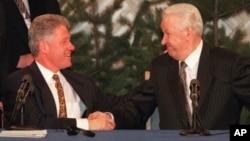 Билл Клинтон и Борис Ельцин