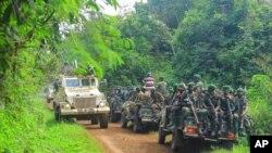 Abasirikare ba RDC n'inteko za Monusco mu bikorwa vyo gukizura hafi ya Oicha, ku birometero 30 uva i Beni