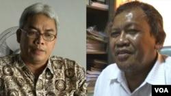 Taufiq Hidayat (kiri) dan Moedji Raharto, dua dari empat astronom Indonesia yang diabadikan sebagai nama asteroid.