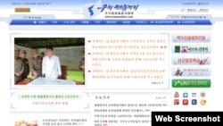 북한의 체제선전용 웹사이트 '우리민족끼리'.