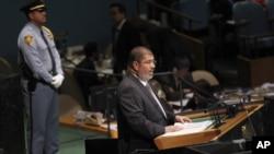 埃及总统穆尔西星期三在联大演讲