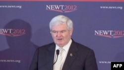 Predsednički pretendent republikanske stranke, Njut Gingrič