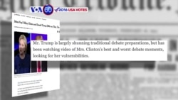 VOA60 Elections - U.S. presidential candidates are gearing up for the first debate next week