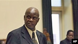Zimbabwe's Finance Minster Patrick Chinamasa in parliament.