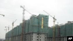 中国的一个建筑工地