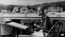 """诺曼.罗克维尔和他的画作""""史托克伯雷杰大街圣诞节"""""""