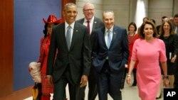 Президент США Барак Обама прибыл в Конгресс США. Вашингтон. 4 июля 2017 г.