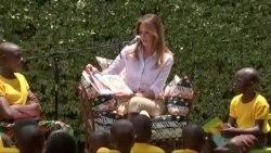 Melania Trump visite un orphelinat au Kenya